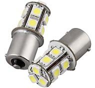 2Pcs 1156 13*5050SMD LED Car Light Bulb Warm Light DC12V