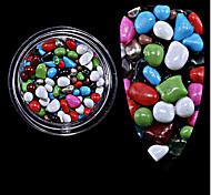 1pc разлил новый красочный камень из частиц камня