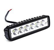 Ziqiao 2pcs 6 inch 18w led work light для индикаторов мотоцикл вождение внедорожник лодка автомобиль тягач 4x4 suv atv 12v