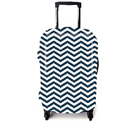Luggage Cover for Luggage Accessory Polyester-White/Blue