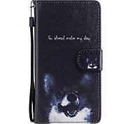 For Samsung Galaxy S8 Plus S8 Case Cover Dog Pattern Painted Card Stent PU Material Phone Case S7 Edge S7 S6 S5