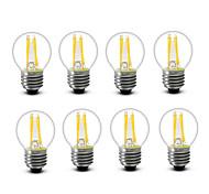 3.5 E14 E27 Bombillas de Filamento LED G45 4 COB 400 lm Blanco Cálido Decorativa AC220 AC230 AC240 V 8 piezas