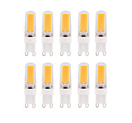 10pcs Dimmable BRELONG 3W COB LED Lights G9 G4 E14 White / Warm White  Bulb AC220-240V