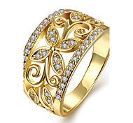 Жен. Кольцо Обручальное кольцо Кристалл Мода По заказу покупателя Euramerican Медь Позолота Позолоченное розовым золотом В форме цветка