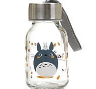 145ml Mini bequeme Reise Glas Cartoon Wasserflasche