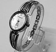 Women's Women Bracelet Watch Quartz Metal Band Vintage Silver