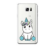 Für Hüllen Cover Ultra dünn Muster Rückseitenabdeckung Hülle Einhorn Weich TPU für Samsung Note 5 Note 4 Note 3