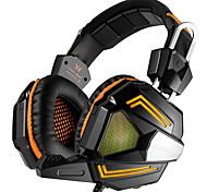 Pc-Stereo-Gaming-Headset mit Mikrofon-Over-Ear-Fit Bass-Kopfhörer bequeme Stirnband mit Lärmisolierung und Atmung LED-Licht für PC Mac
