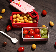 Cookie Plastic Container Stackable Bento Box