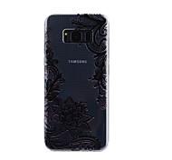 Для samsung galaxy s8 плюс s8 крышка случая кружево печать шаблон падение клей лак высокое качество тпу материал чехол для телефона s7