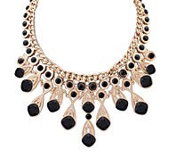 Women's Statement Necklaces Jewelry Jewelry Gem Alloy Euramerican Fashion Personalized Light Blue Dark Blue Black White Jewelry ForParty