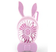 The New Charge Mini Hand-Held Fan Portable USB Fan Little Rabbit Students Small Fan Air-Conditioning Fans 5 v