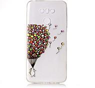 Для Чехлы панели Прозрачный Рельефный С узором Задняя крышка Кейс для Занавес Мягкий TPU для LG LG G6