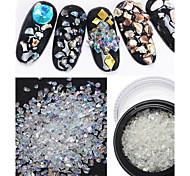 1PC White AB Irregular Crystal Stone