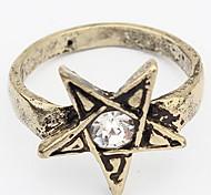 Euramerican Rhinestone Vintage Temperament Couple's Daily Star Ring Movie Jewelry
