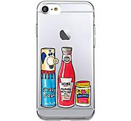 Для Ультратонкий С узором Кейс для Задняя крышка Кейс для Продукты питания Мягкий TPU для AppleiPhone 7 Plus iPhone 7 iPhone 6s Plus