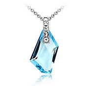 Women's Pendant Necklaces Jewelry Jewelry Gem Alloy Unique Design Fashion Light Blue Red Purple Dark Blue Gold Jewelry ForParty Gift