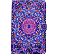 For Samsung Galaxy Tab T580 T530 PU Leather Material Blue Purple Pattern Painted Flat Protective Cover T550 T560 T280 T350