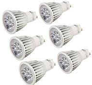 Youoklight® 6pcs gu10 5w 400-450lm 3000k / 6000k 5-высокая мощность светодиодная лампа накаливания (ac110-120v / 220-240v) -silver