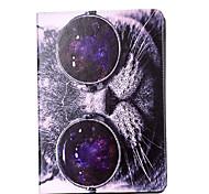 Для яблока ipad pro 9.7 '' ipad 5 ipad 6 крышка случая кошка картина карта стент pu материал плоский защитный кожух