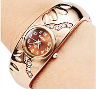 Montre Bracelet Chinois Quartz Alliage Bande Bracelet Doré Or