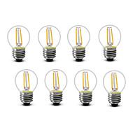 2W E14 E27 Bombillas de Filamento LED G45 2 COB 200 lm Blanco Cálido Decorativa AC220 AC230 AC240 V 8 piezas