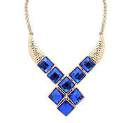 Women's Pendant Necklaces Jewelry Jewelry Rhinestone Alloy Euramerican Fashion Personalized Light Blue Dark Blue Black Jewelry ForParty