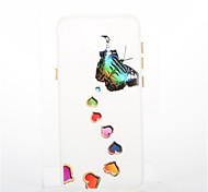 For Samsung Galaxy S8 Plus S8 Plating Glow in the Dark Case Back Cover Case Butterfly Soft TPU