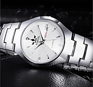 Women's Fashion Watch Quartz Alloy Band Silver Black/White White
