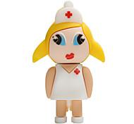 Горячая новая мультфильм женщина медсестра usb2.0 16gb флэш-диск u диск памяти