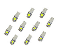 10Pcs T10 5*5050 SMD LED Car Light Bulb White Light DC12V