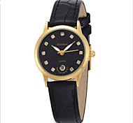 Women's Fashion Watch Quartz Leather Band Black Brown Black/Gold Brown Black White Gold