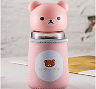 320ml Mini Convenient Travel Glass Cartoon Water Bottle Drinkware
