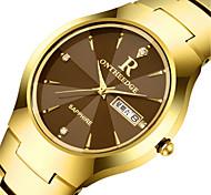Муж. Модные часы Кварцевый Календарь сплав Группа Черный Серебристый металл Золотистый