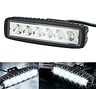 ZIQIAO 2pcs 6 Inch 18W LED Work Light for Indicators Motorcycle Driving Offroad Boat Car Tractor Truck 4x4 SUV ATV 12V