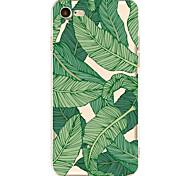 Для яблока iphone 7 7 плюс 6s 6 плюс крышка случая зеленая картина листьев покрашенная высоко проникает материал tpu мягкий случай