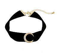 Women's Choker Necklaces Moon Chrome Unique Design Personalized Black Jewelry For Gift Outdoor 1pc