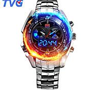 Мужской Спортивные часы Модные часы Наручные часы Японский КварцевыйLED Календарь Защита от влаги С двумя часовыми поясами тревога