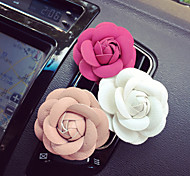 1Pcs Creative Cortical Camellia Automobile Air-conditioning Outlet Car Clip Car Perfume Car Perfume Color Random