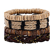 New National Style Coconut Shell Multi Layer Woven Bracelet