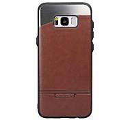 Для samsung galaxy s8 plus s7 чехол чехол для палки кожа с палкой металлические чехлы для мобильных телефонов для s6 край s6