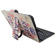Назначение Чехлы панели со стендом с клавиатурой Флип С узором Чехол Кейс для Слова / выражения Цветы Твердый Искусственная кожа дляApple