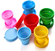 Outdoor Sports Portable Retractable Folding Cups Travel Folding Silicone Cups Silicone Mouthwash Cups