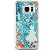 Für samsung galaxy s8 plus s8 phone case prinzessin muster fließenden quicksand flüssig glitter plastik pc materia s7 rand s7