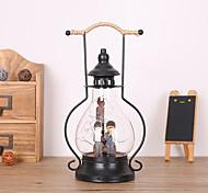 1PC Retro Saving Lovers  Artware Mirror Barn Lantern LED Night Lamp