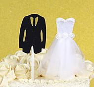 2шт / комплект невесты и жениха торт верхней части свадебного торжества украшения свадебного торжества