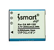 Ismartdigi New CNP120 3.7V 600mAh Camera Battery for Casio CNP120 CNP-120 NP120 NP-120 EX- S200 ZS10 ZS15 TZ20