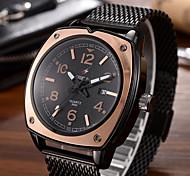 Homens Relógio de Moda Único Criativo relógio Relógio Casual Relógio de Pulso Quartzo Calendário Mostrador Grande Lega BandaCriativo