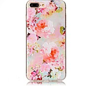For iPhone 7 Plus 7 Embossed Flower Pattern High Quality TPU Soft Phone Case 6 Plus 6S 6 SE 5