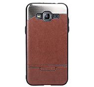 For Samsung Galaxy J3 J3 (2016) Case Cover The Stick Leather with Stick the Metal Mobile Phone Cases